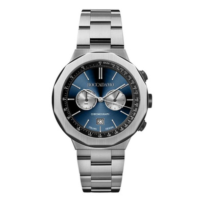 Chronograph watch with blue dial