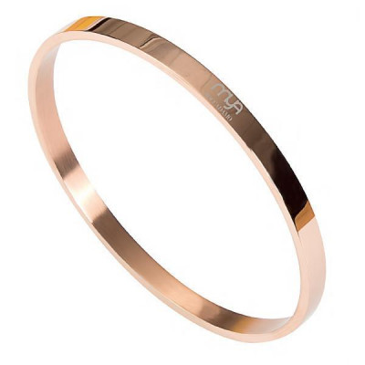 Rigid bracelet gold plated pink with smooth surface