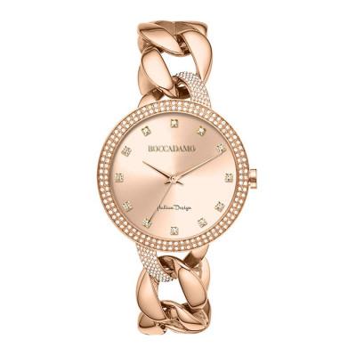 Wristwatch woman with quadrant rosato and Bracelet groumette rosato