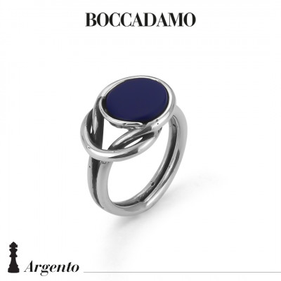 Knot ring with blue agate