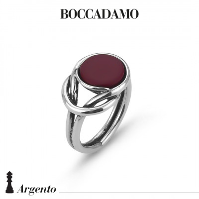 Knot ring with red agate