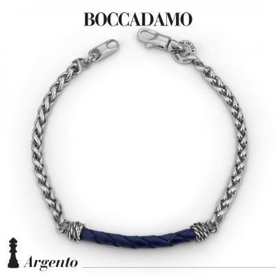 Herringbone bracelet with blue scooby do