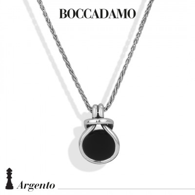 Knot necklace with black agate