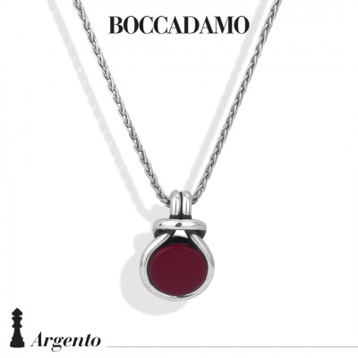 Knot necklace with red agate