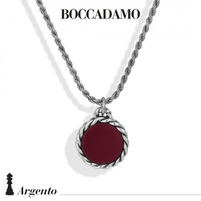 Necklace with red agate