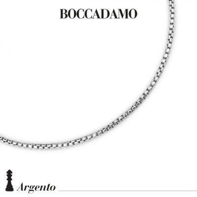 Small half-round Venetian mesh necklace