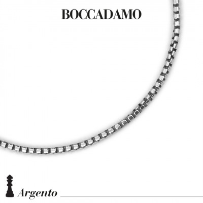 Large half-round Venetian mesh necklace
