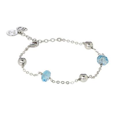 Bracelet with Swarovski crystals aqcuamarine