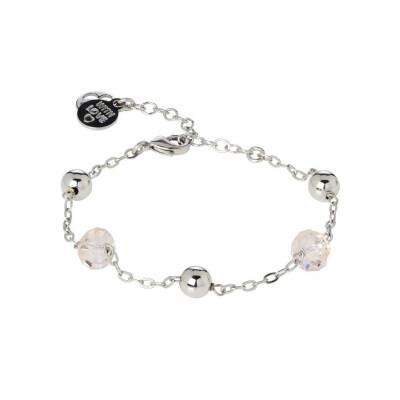Bracelet with Swarovski crystals silk