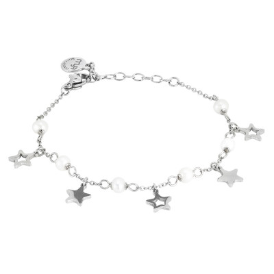 Bracelet with stars and natural pearls
