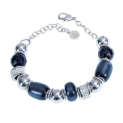 Bracelet with resin polaris blue