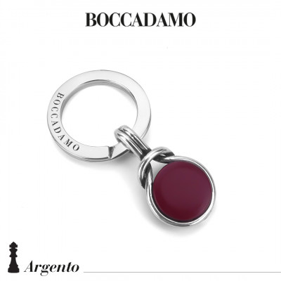 Knot keyring with red agate