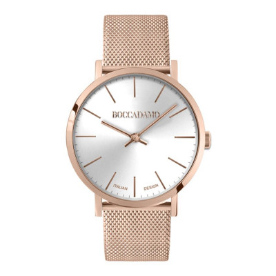 Watch lady with quadrant metallized effect and mesh strap mesh rosato