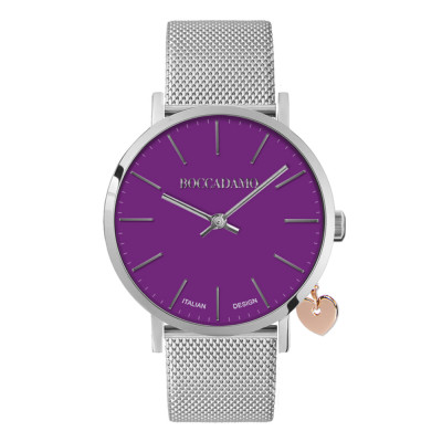 Clock with purple dial
