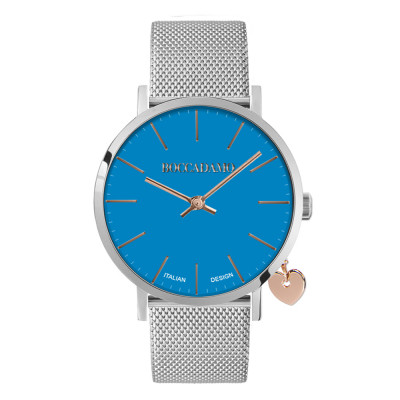 Clock with blue dial