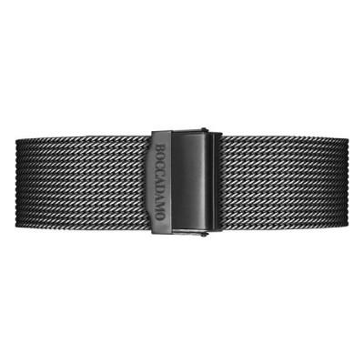 Cinturino in acciaio mesh nero