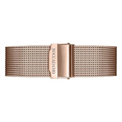 Cinturino in acciaio mesh rosato