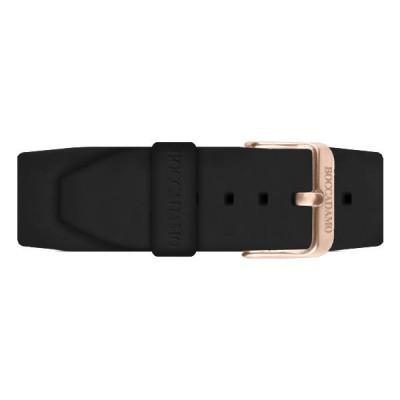 Cinturino in silicone nero e fibia rosata