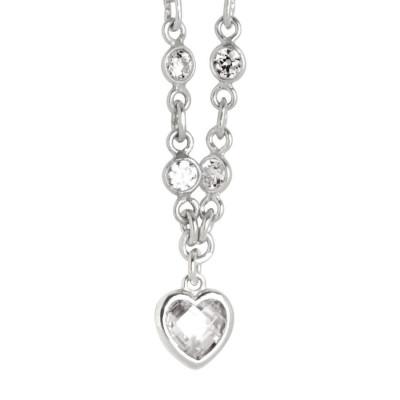 Collana in argento con zirconi crystal