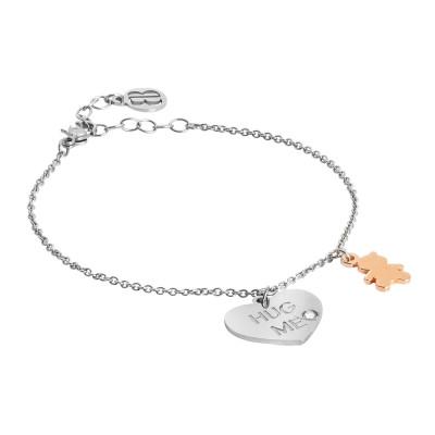 Hug me bracelet with two-tone pendants