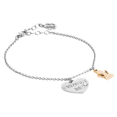 Bracelet protect me with bicolor pendants