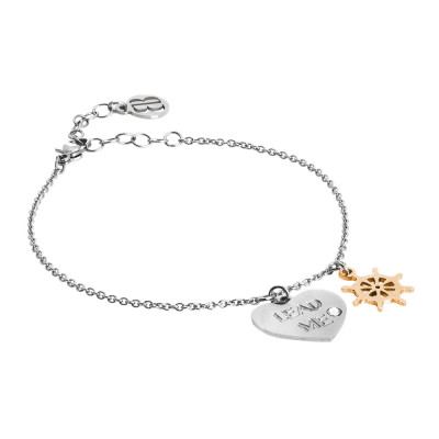 Lead me bracelet with two-colored pendants