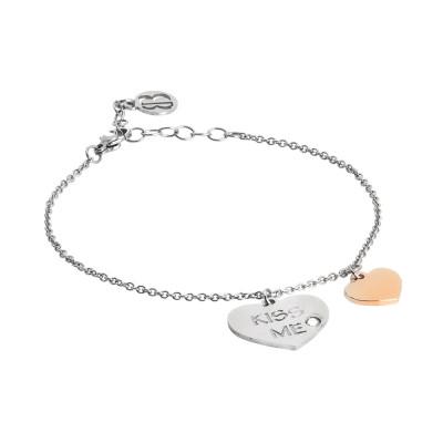 Bracelet me kiss with bicolor pendants