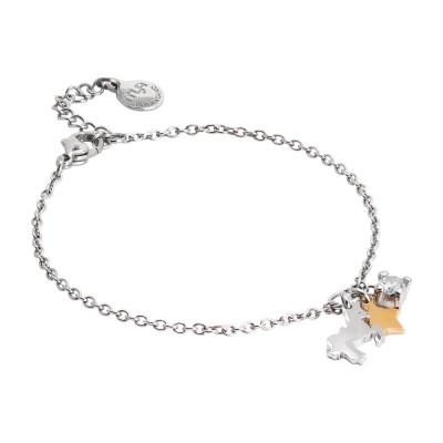 Bracciale morbido con unicorno, stella e zircone pendenti