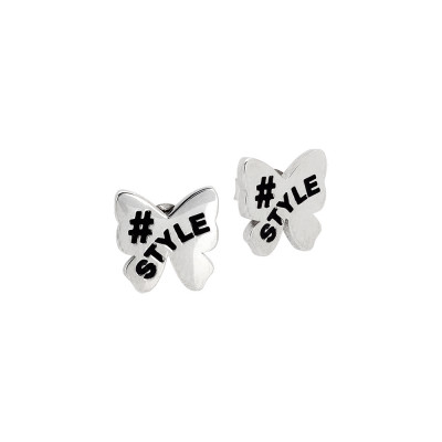 Stud earrings with bow