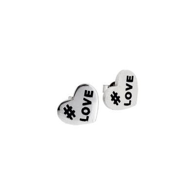 Heart-shaped lobe earrings