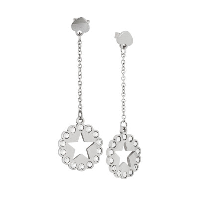 Earrings with star and Swarovski
