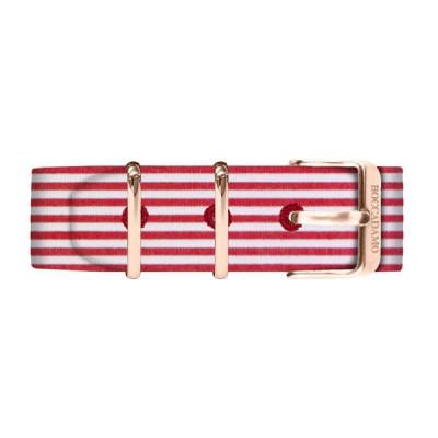 Cinturino sartoriale a righe rosse e bianche