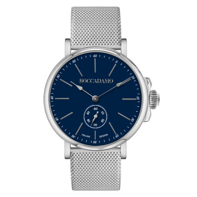 Men's watch with blue dial and second counter