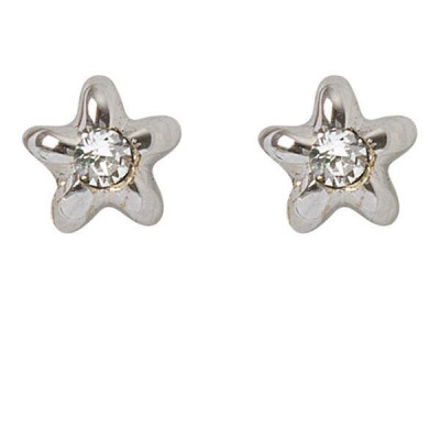 Earrings in the lobe with star and crystal Swarovski crystal