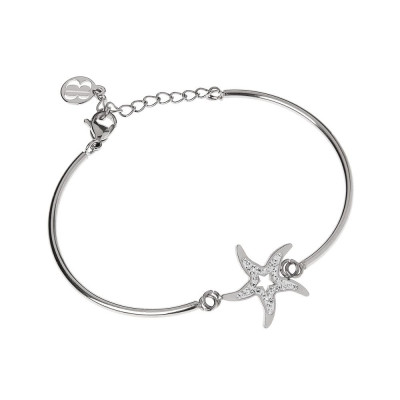 The semirigid Bracelet with star center in pavèdi strass