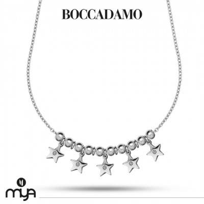 Necklace with stars and zircons