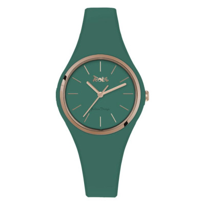 Watch lady in silicone anallergic sage and pink ring