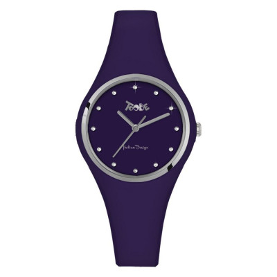Watch lady in anallergic silicone indigo and indexes in Swarovski