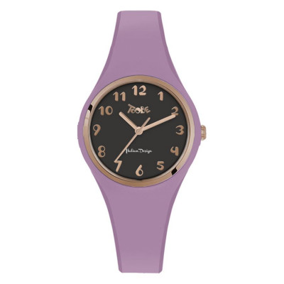 Watch lady in silicone anallergic lavender, collar and indexes rosati