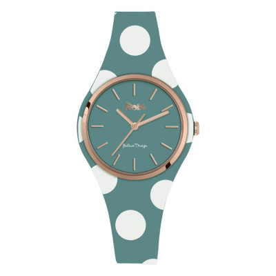 Watch lady in anallergic silicone paper from sugar with white polka dots