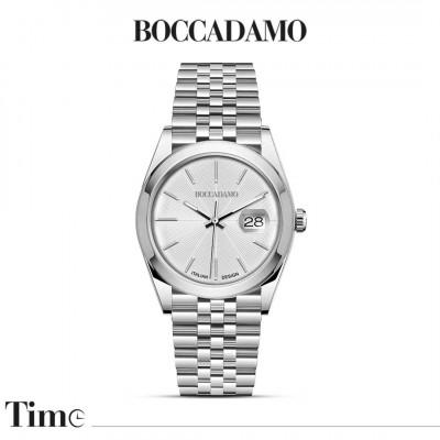 Silver date watch