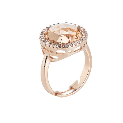 Ring with crystal peach