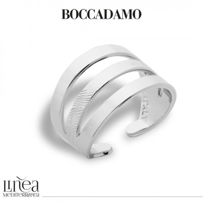 Rhodium-plated band ring