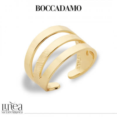 Yellow gold plated band ring