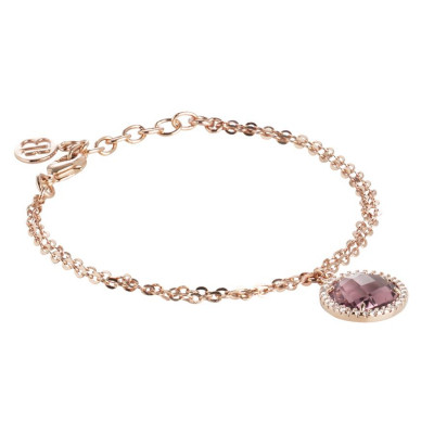 Bracelet with crystal amethyst and zircons
