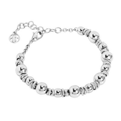 Bracelet with rhodium-plated balls