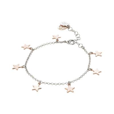 Bracciale rosato con stelline pendenti