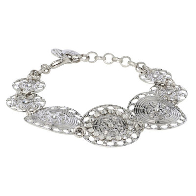 The semirigid Bracelet with decoration in relief and Swarovski