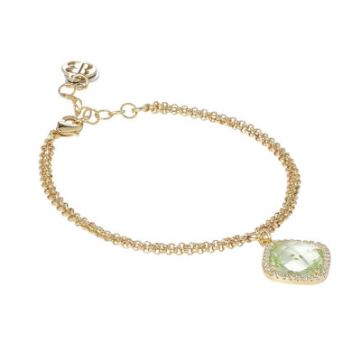 Bracelet with crystal chrysolite briolette and zircons
