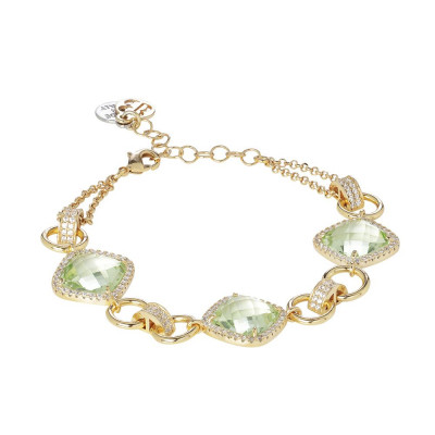 Modular Bracelet with crystals chrysolite and zircons